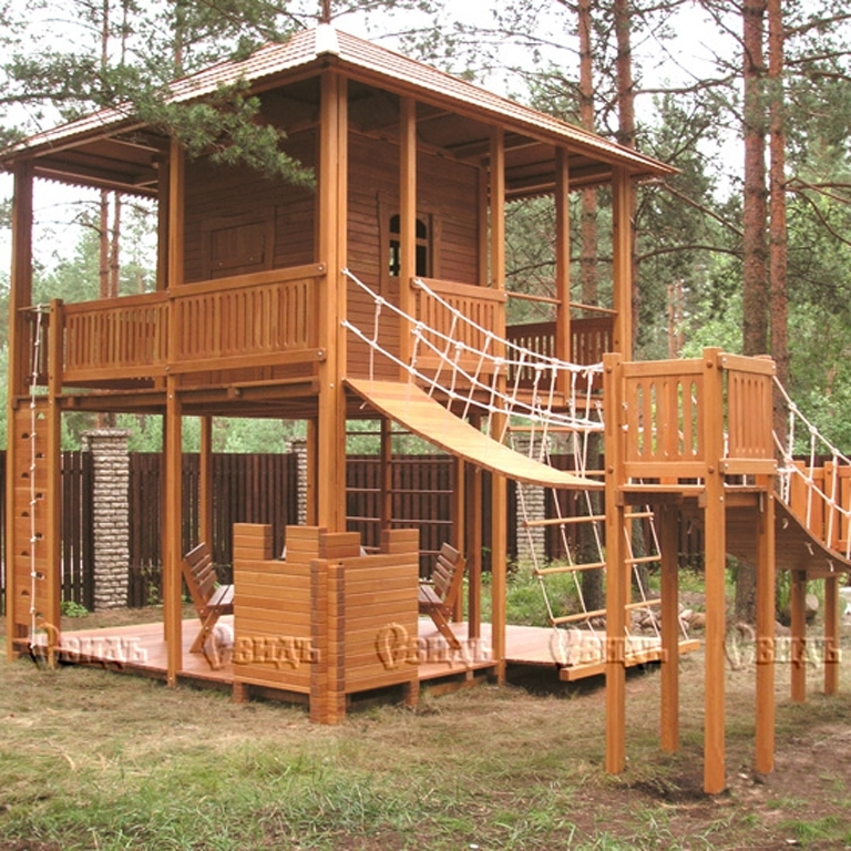 Проекты детских деревянных домиков 102